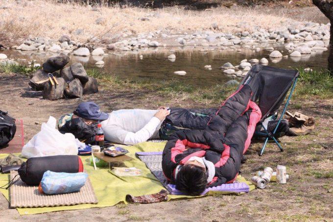 グループキャンプでは大変なので細かいことは決めない。