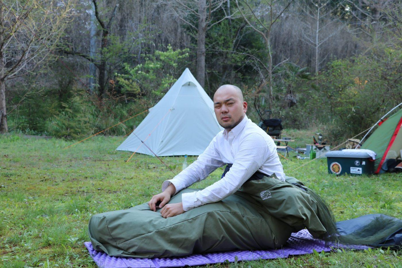 自分自身のキャンプスタイルを求めた結果、外で寝るだけをやったこともあります。