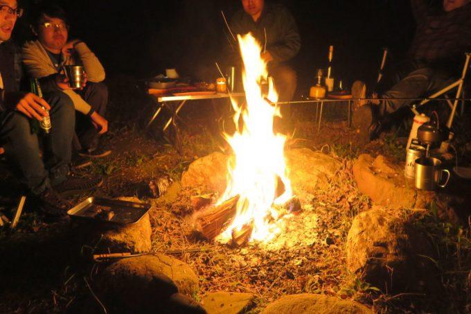 4月は焚き火をするのにちょうど良い気温