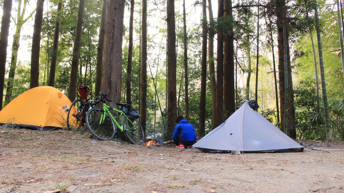 自転車でのキャンプの仕方