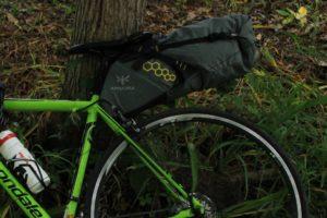 【バイクキャンプ】自転車キャンプをするなら、大容量サドルバッグがオススメ!!