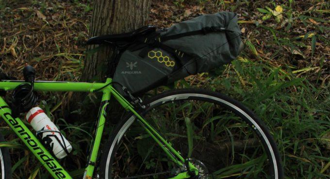 自転車キャンプをするならサドルバッグはあったほうが良い