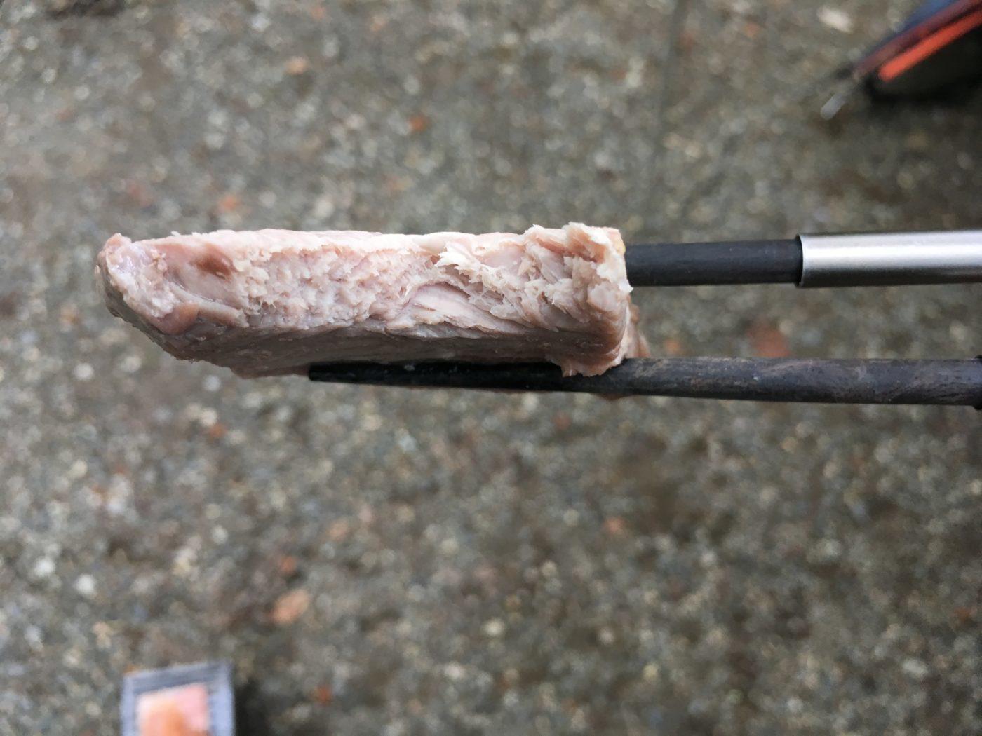 ロゴス 岩塩プレートは遠赤外線で中までしっかり火が通る