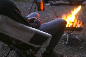【自らレビュー】秋冬キャンプ用のヘリノックスもふもふチェアカバー