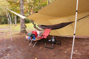 【ソロキャンパー向け】雨天時のソロキャンプは大型タープにハンモック泊が快適なんじゃないか説