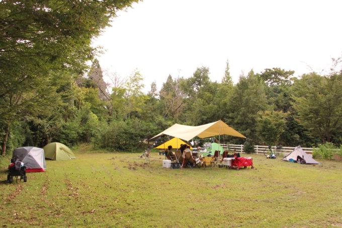 有野実苑ドッグラン前の広場