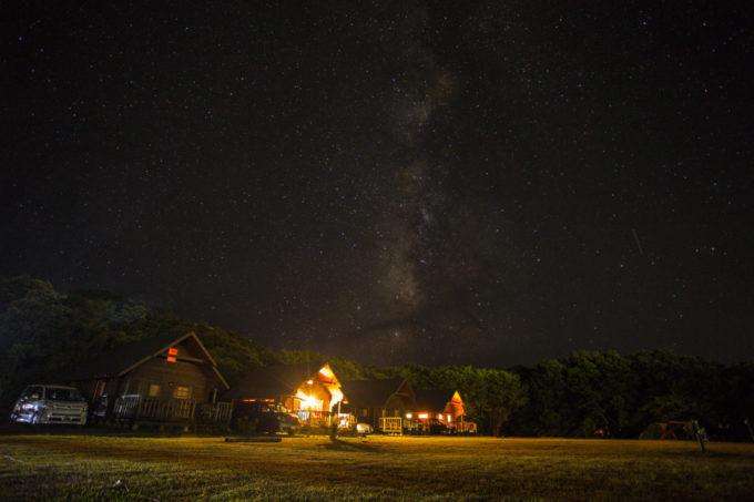 キャンプ場の夜は冷える