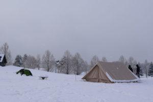 【雪中キャンプ体験レビュー】snow peak ヘッドクォーターに二泊三日で雪中してきた!「実践編(前編)」