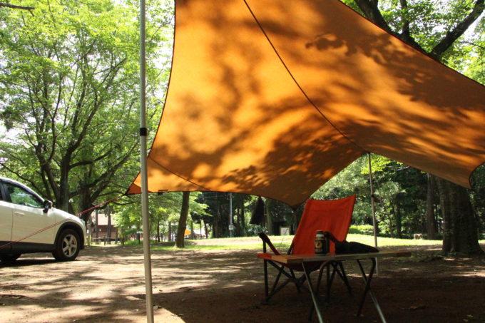 新緑の季節はキャンプで過ごしやすい