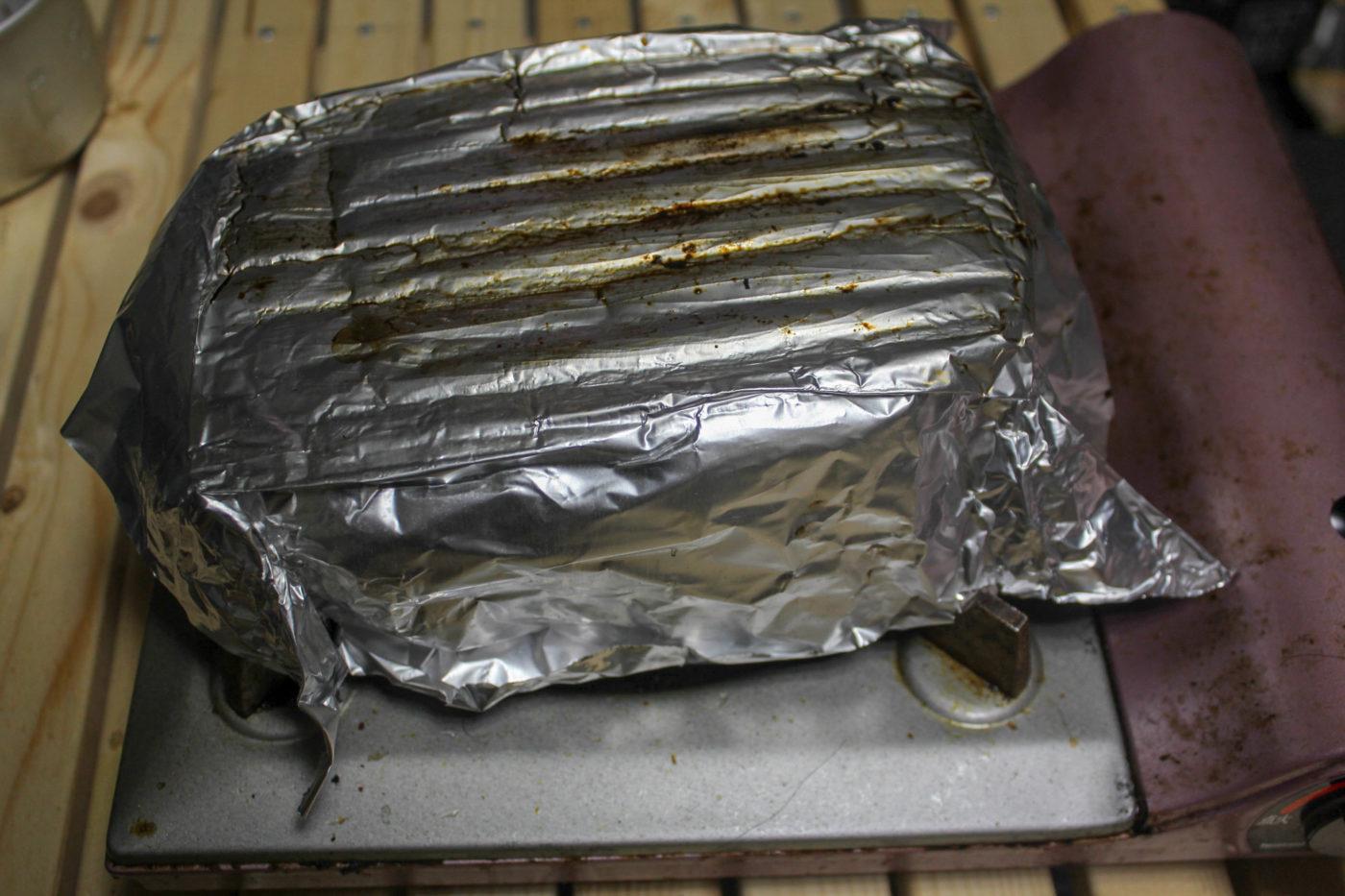 男前グリルプレートを使ったキャンプ料理