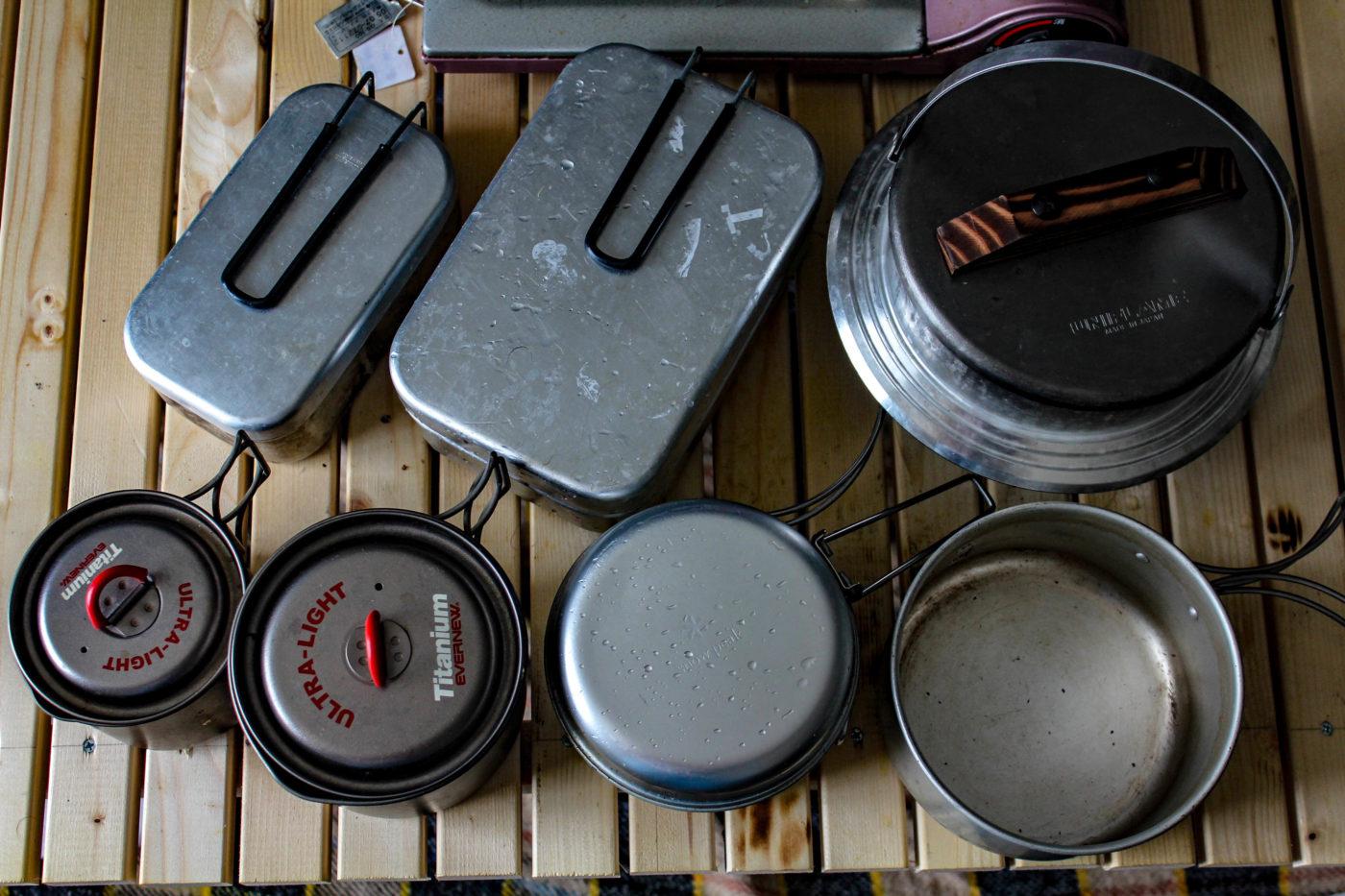7種類のクッカーを日替わりで使って米を炊き続けてみました。これに男前グリルプレートでの炊飯も加わります。