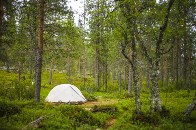 フィンランドのキャンプ場の写真