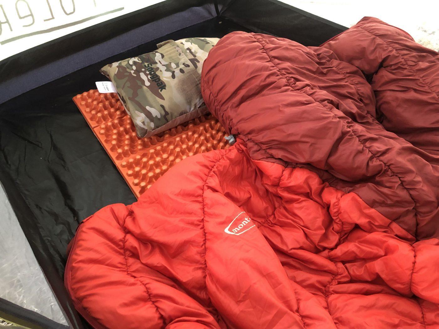ダウン用の寝袋の写真