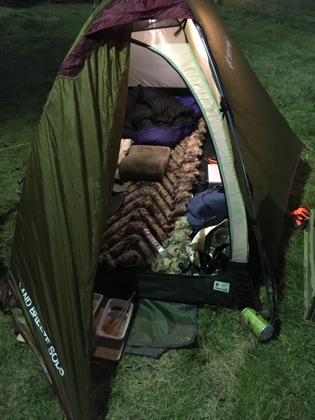 キャンプ旅をする時はこのコンパクトな収納が有能