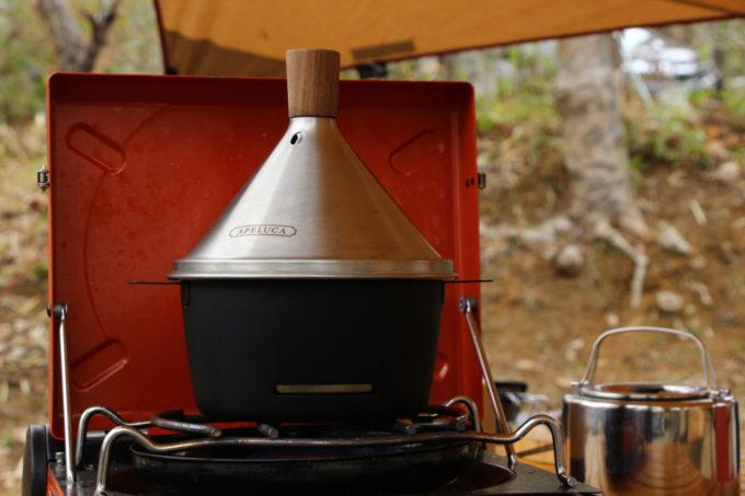 アペルカのテーブルトップスモーカーで燻製
