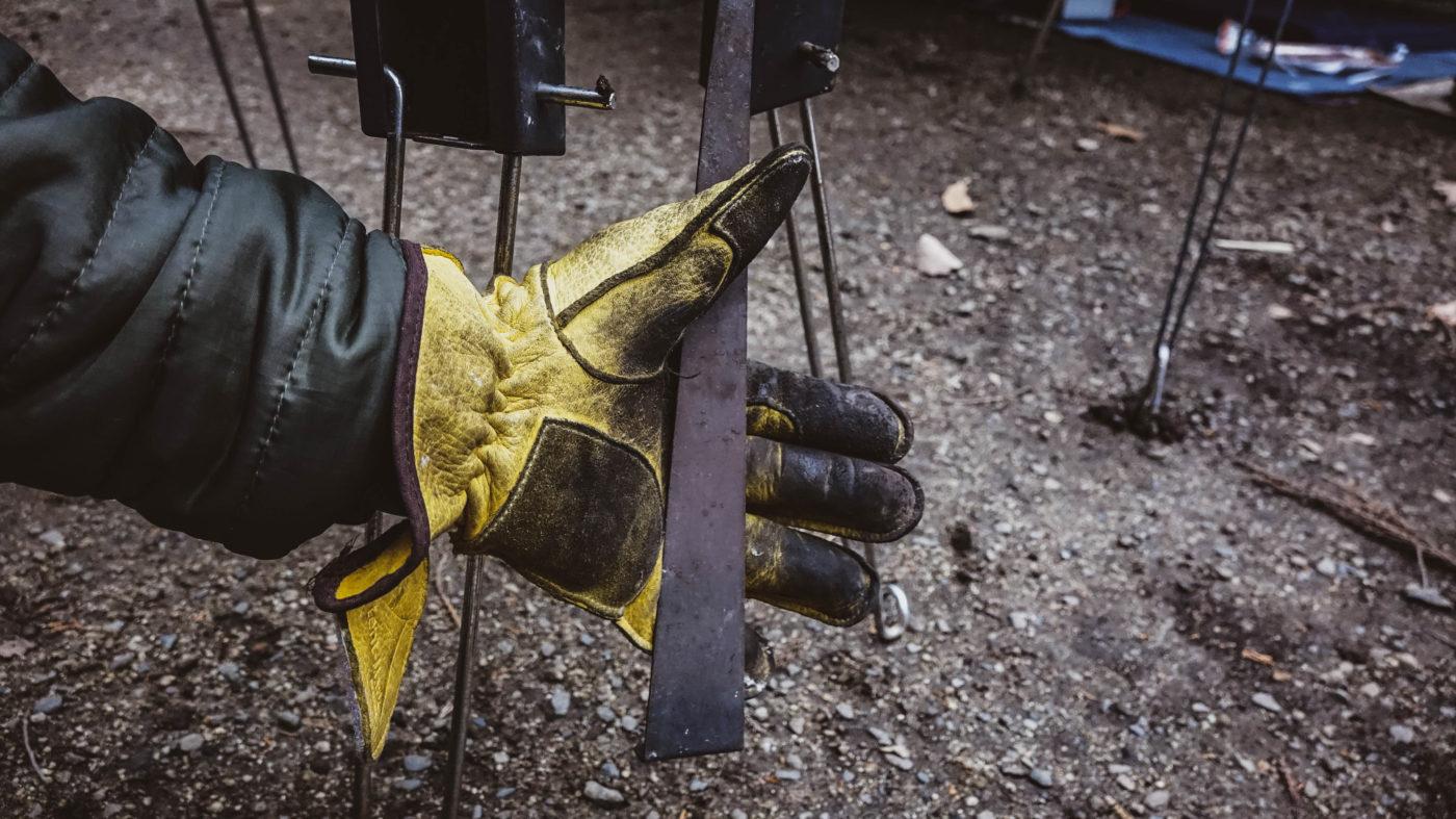 ペレットグリルヒーターの火かき棒の写真