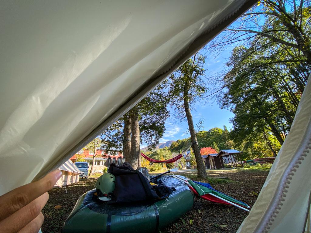 テンマクデザインおにぎりテント前室のファスナー