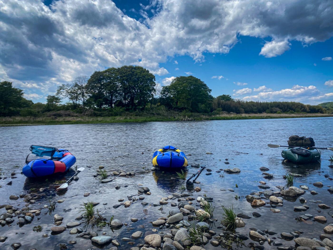 那珂川はパックラフトで下るのは丁度いい川
